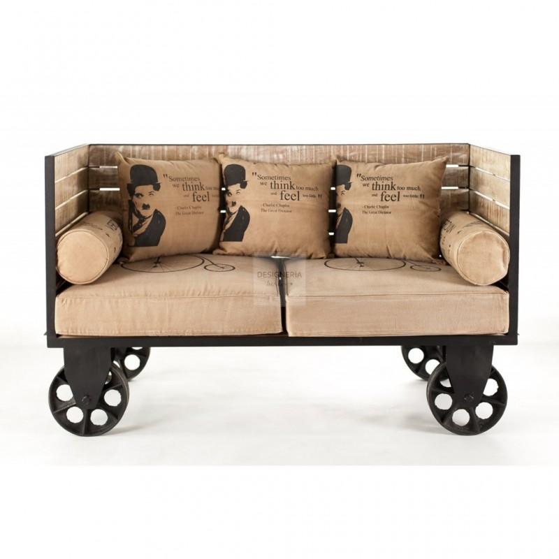 2er sofa metall. Black Bedroom Furniture Sets. Home Design Ideas