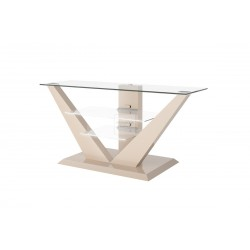 LUNA TV furniture cappuccino with LED lighting