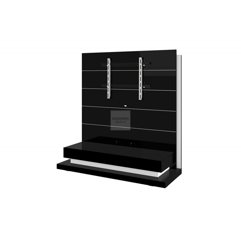 panorama lux tv m bel black mit led beleuchtung. Black Bedroom Furniture Sets. Home Design Ideas