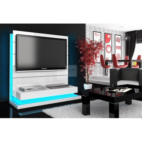 PANORAMA LUX TV Schrank White Mit LED Beleuchtung