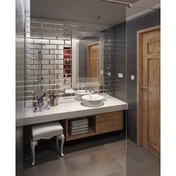 Exclusive Mirror tile FACETED 10cmx30cm