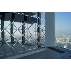 Exclusive Mirror tile triangular FACETED 30cmx30cmx42,5cm