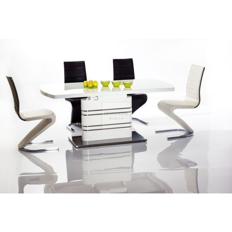 Superior GUCCIO High Gloss Dining Table Extendable ...
