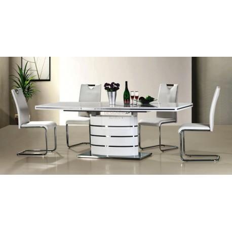 FANO ausziehbarer Esstisch Säulentisch 90 x 140 - 200 cm