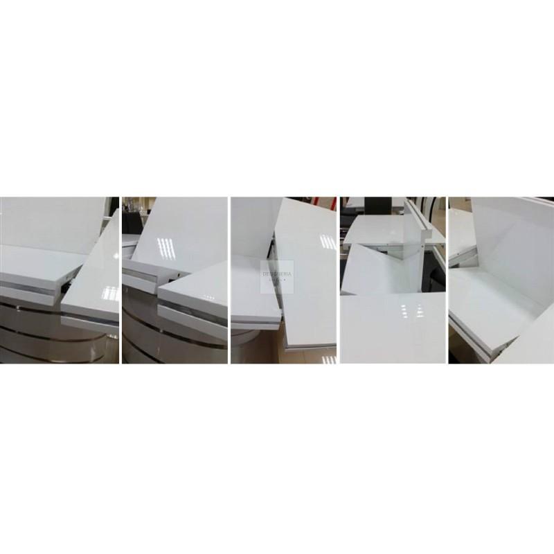fano esstisch s ulentisch ausziehbar bis 200cm. Black Bedroom Furniture Sets. Home Design Ideas