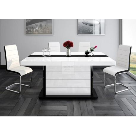 piano esstisch ausziehbar bis 260cm. Black Bedroom Furniture Sets. Home Design Ideas