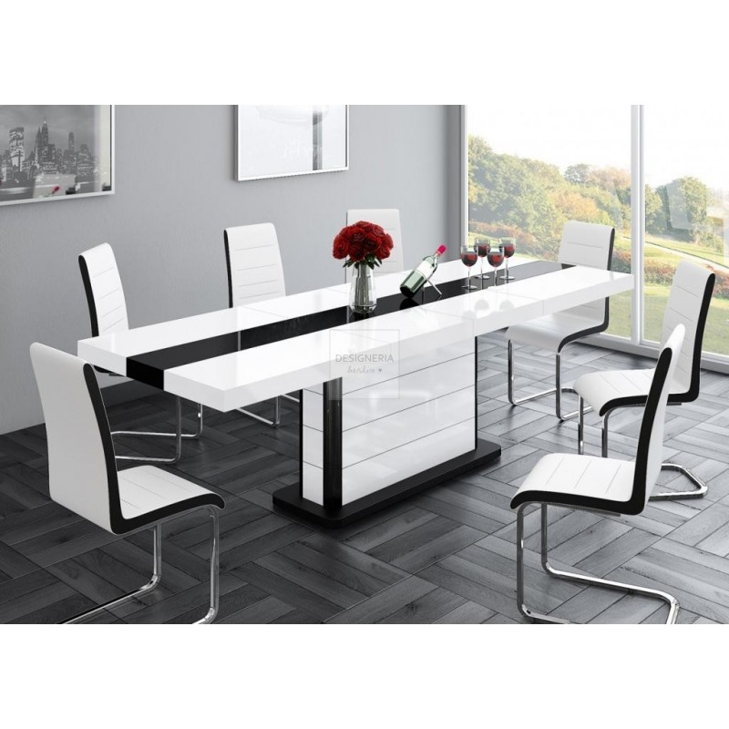 PIANO dining table extendable up to 260cm