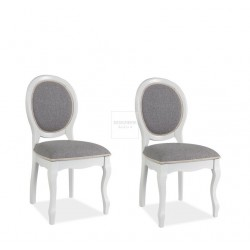 ♥ Medalion upholstered chair set of 2