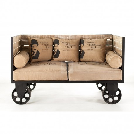 MAZINE 2 seater metal sofa