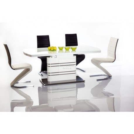 GUCCIO high gloss dining table extendable