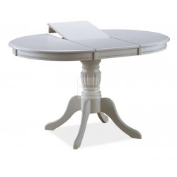 OLIVIA cream dining table extendable up to 141cm