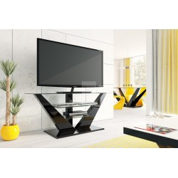 LUNA TV furniture black with LED lighting