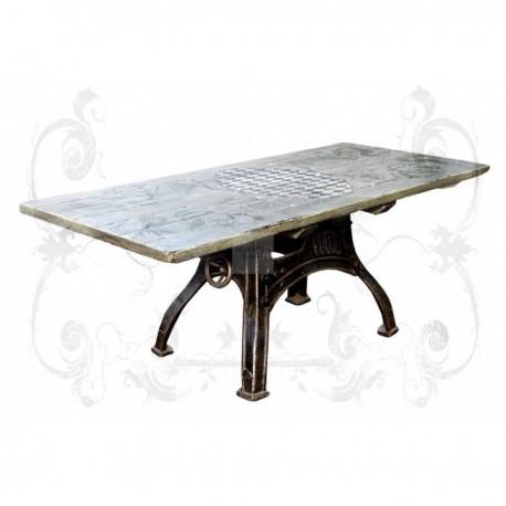 ♥ Schmiedeeisen Tisch handbemalt